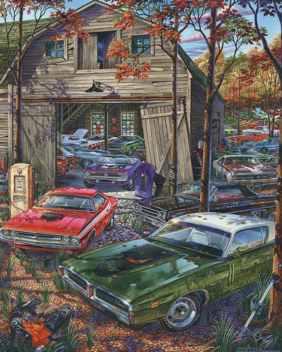 Cars on the Farm Farm Jigsaw Puzzle