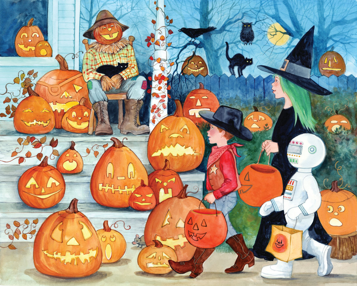 Scary Jack-o'-Lanterns Halloween Jigsaw Puzzle
