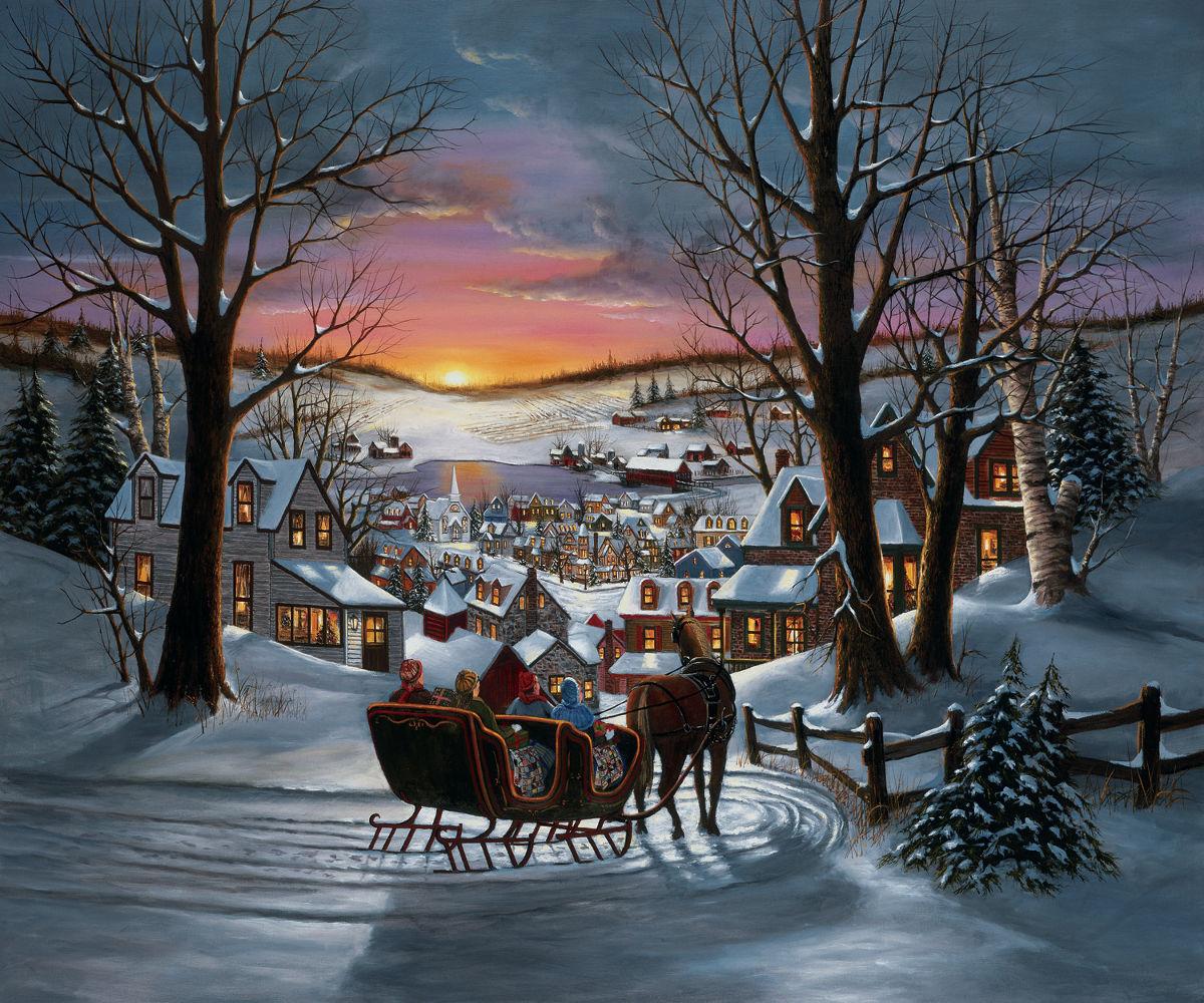 Peace on Earth Santa Jigsaw Puzzle
