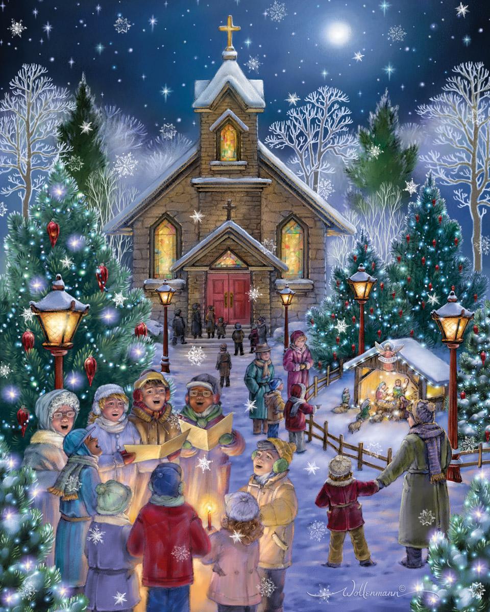 Midnight Mass Christmas Jigsaw Puzzle