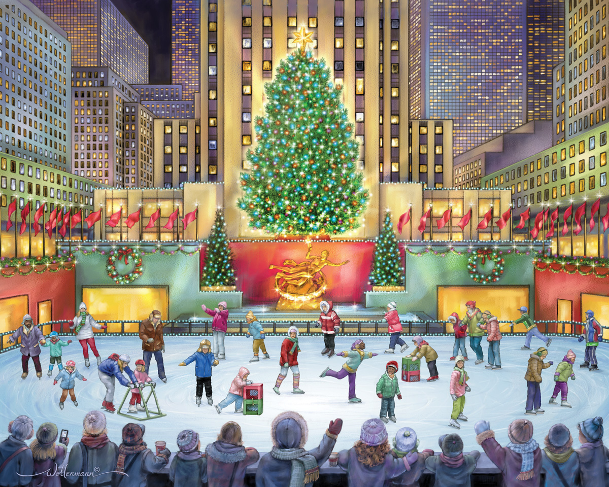 Rockefeller Center Winter Jigsaw Puzzle