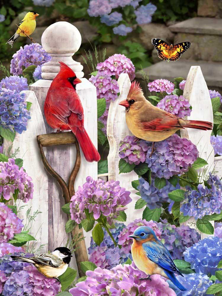 Cardinals & Friends Birds Jigsaw Puzzle