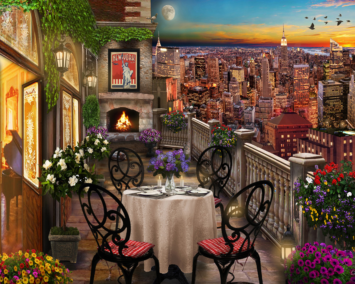 New York Evening New York Jigsaw Puzzle