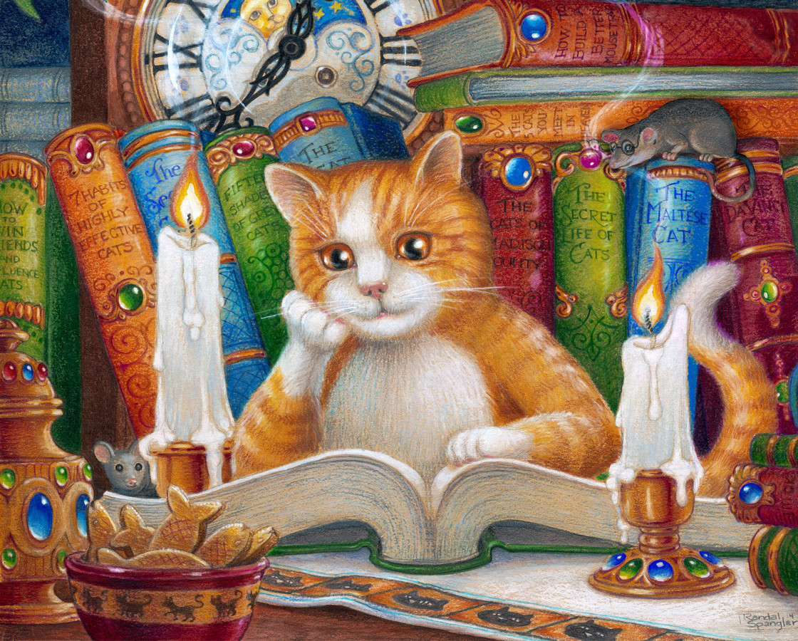 The Literate Cat Library / Literary Jigsaw Puzzle
