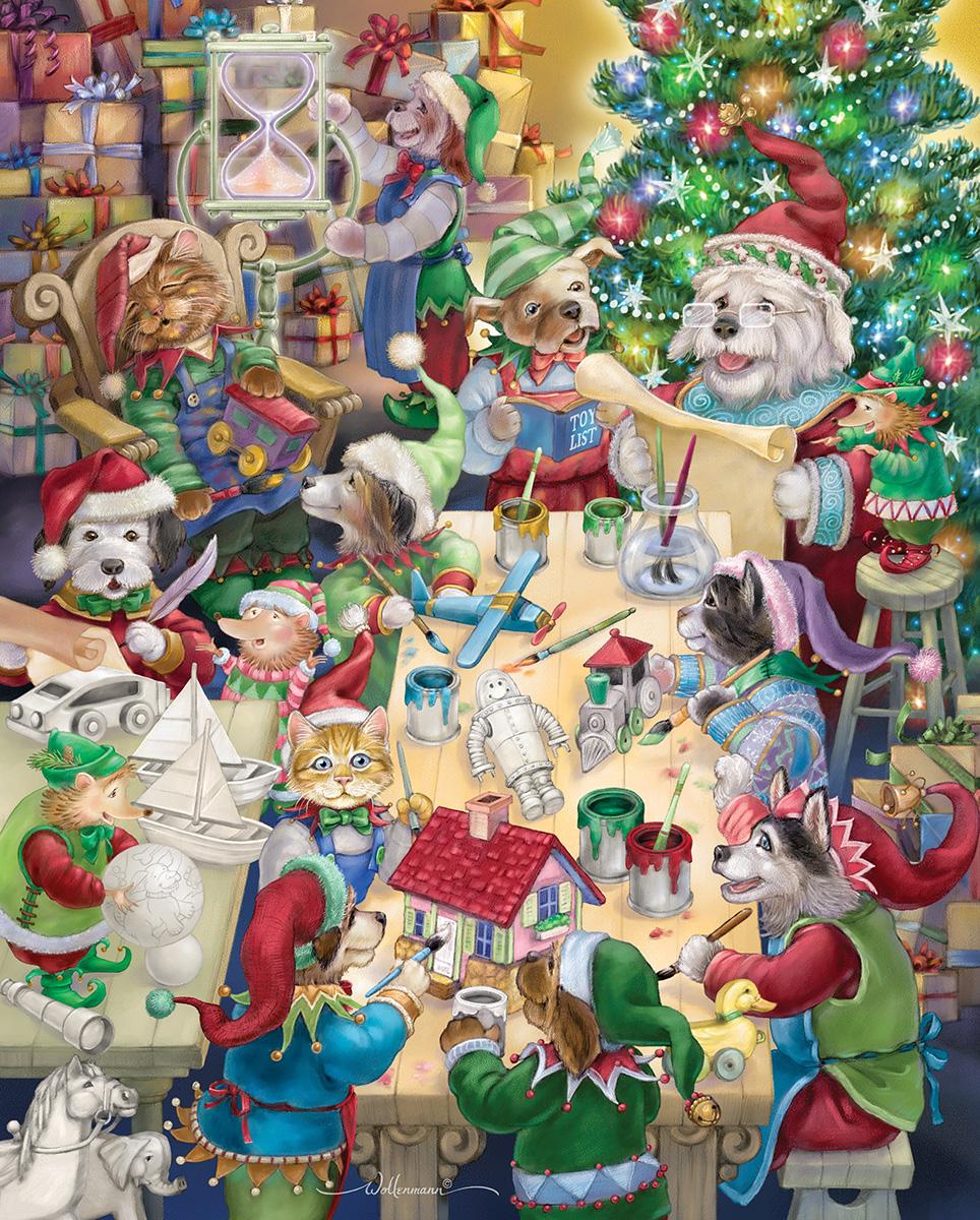 North Pole Pets Jigsaw Puzzle | PuzzleWarehouse.com