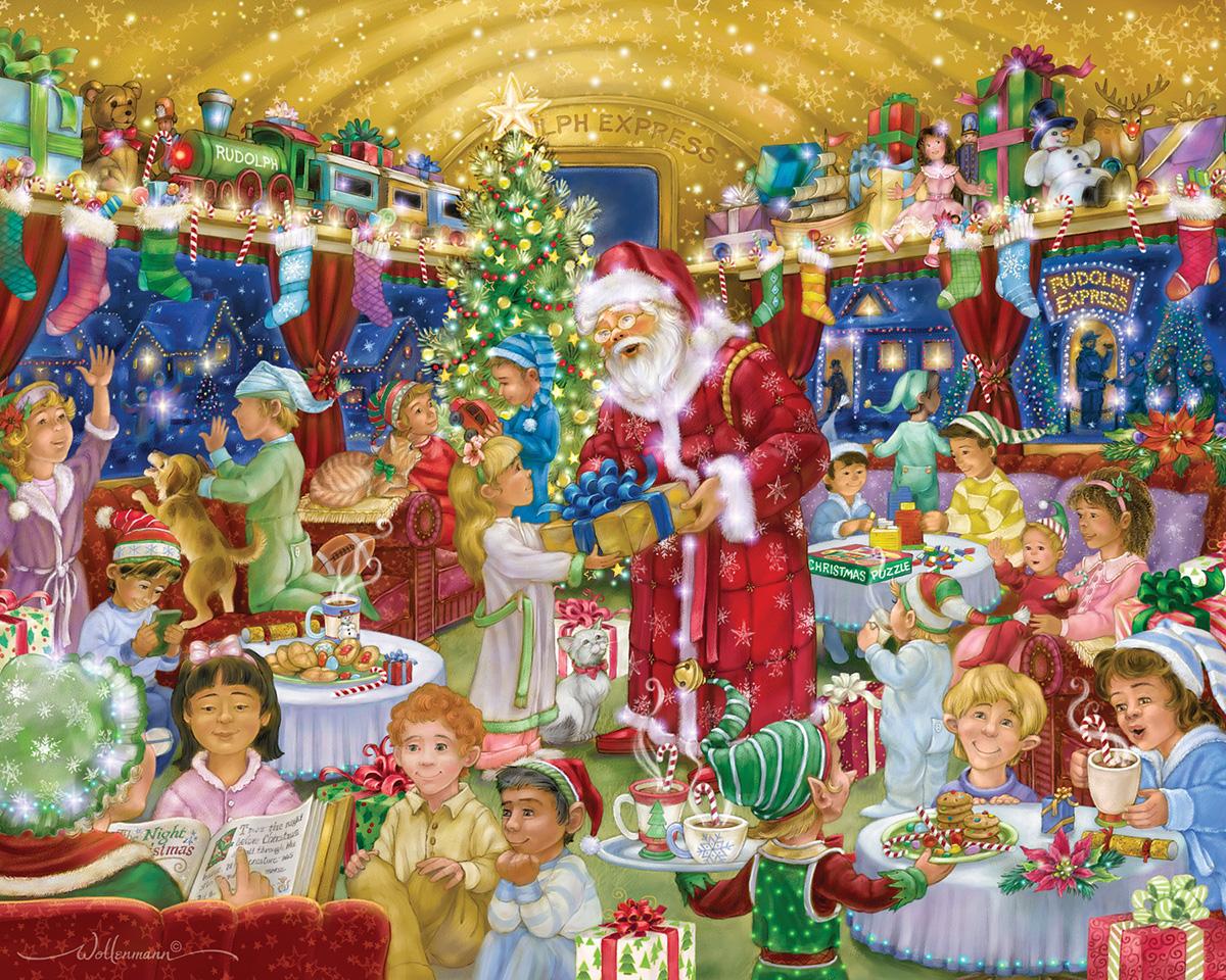 Rudolph Express Santa Jigsaw Puzzle