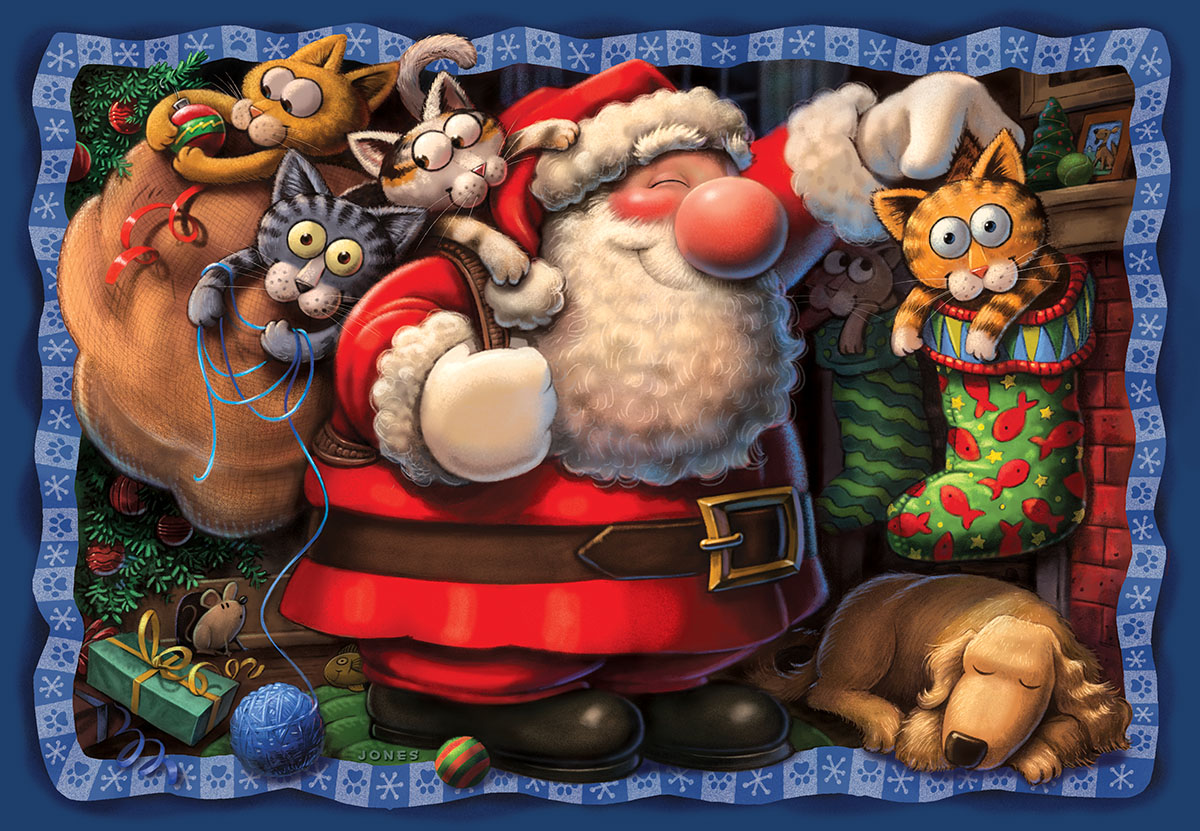 Purr-fect Gift Cats Jigsaw Puzzle