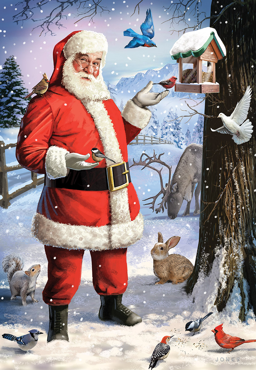 Santa's Little Friends Birds Jigsaw Puzzle