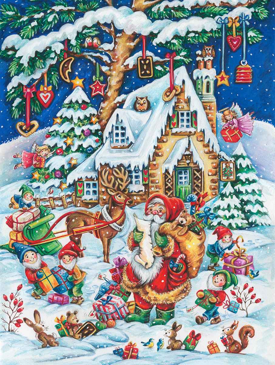 Santa's Helpers Winter Jigsaw Puzzle
