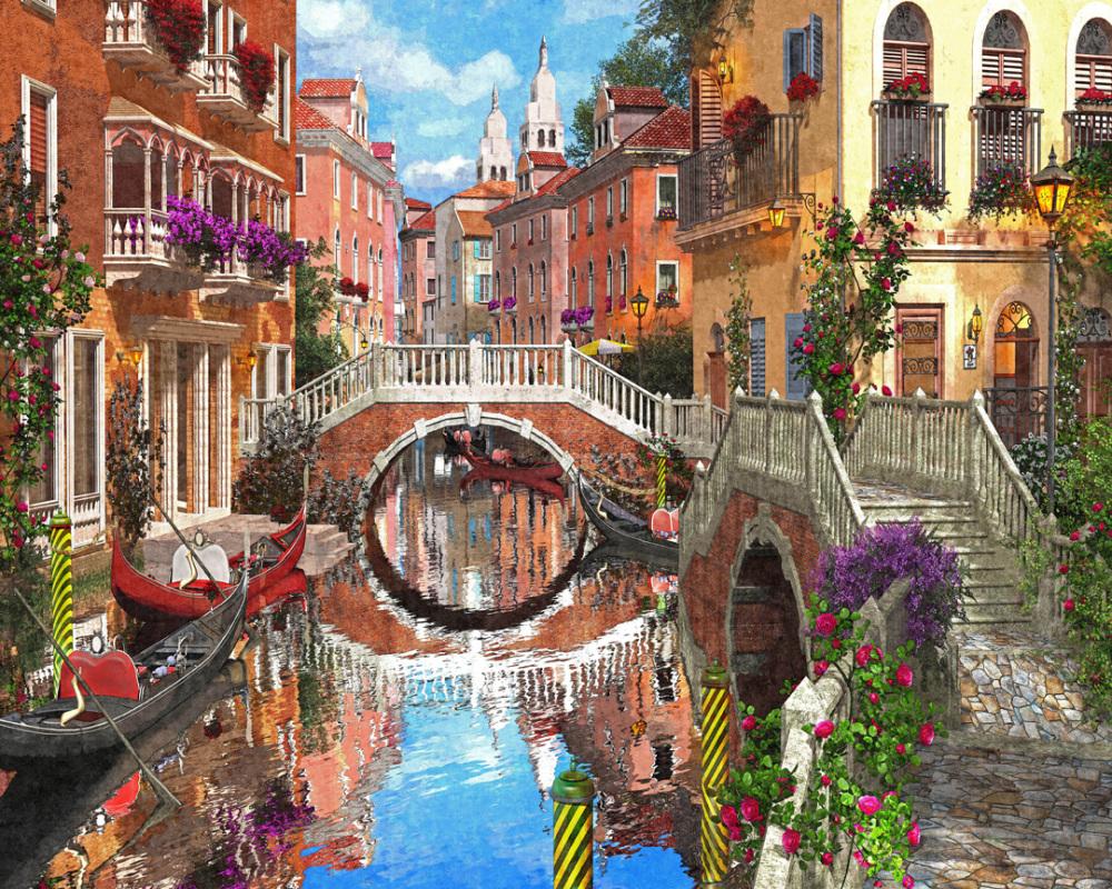 Venetian Waterway Italy Jigsaw Puzzle