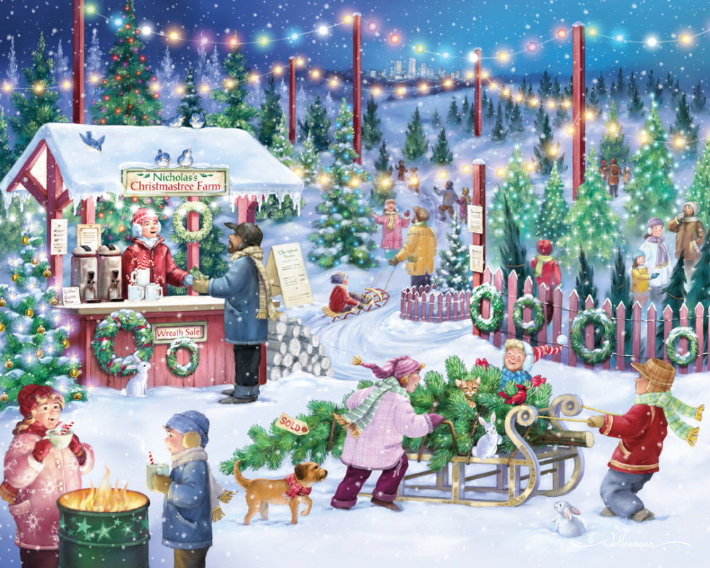Christmas Tree Farm Christmas Jigsaw Puzzle