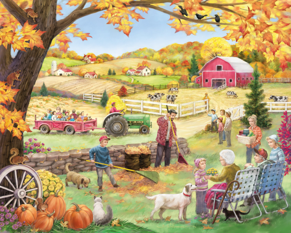 Countryside Autumn Countryside Jigsaw Puzzle