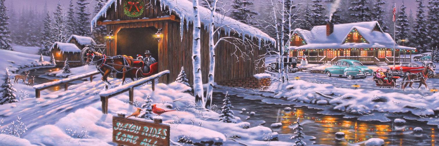 Holiday Gathering Christmas Jigsaw Puzzle