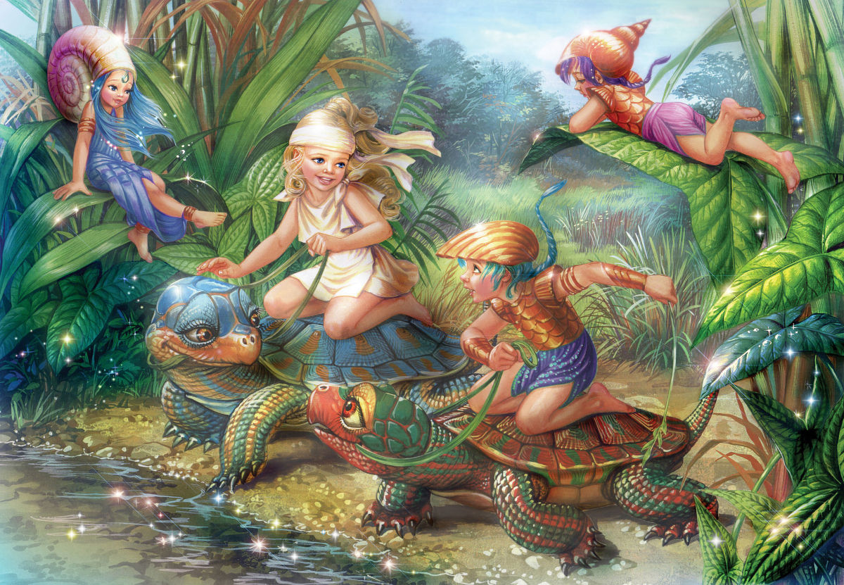 Turtle Pond Fantasy Jigsaw Puzzle
