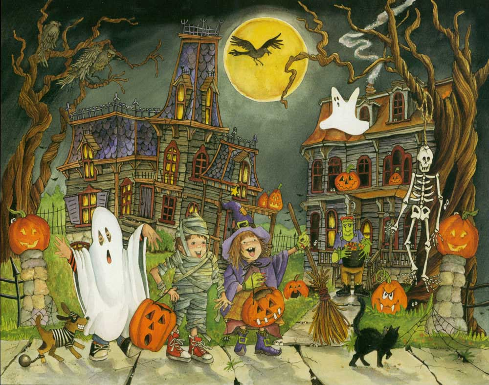 Little Goblins Fall Jigsaw Puzzle