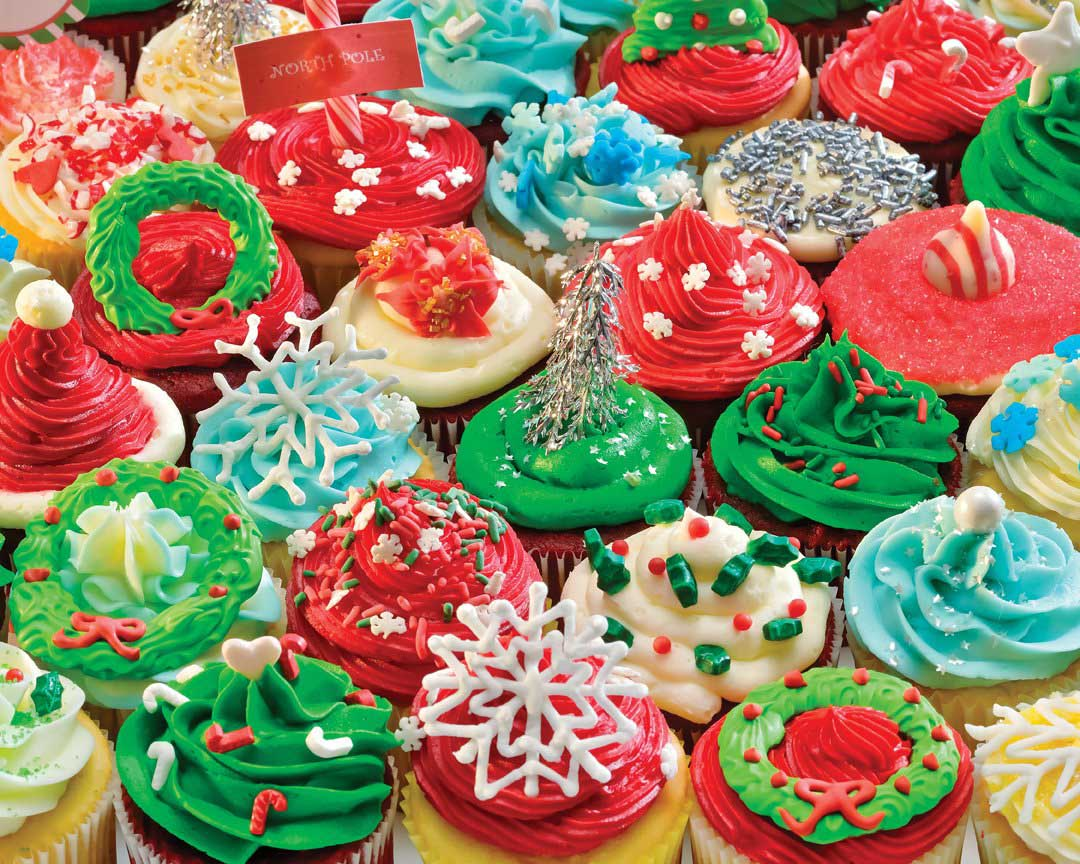 Christmas Cupcakes - Scratch and Dent Christmas Jigsaw Puzzle
