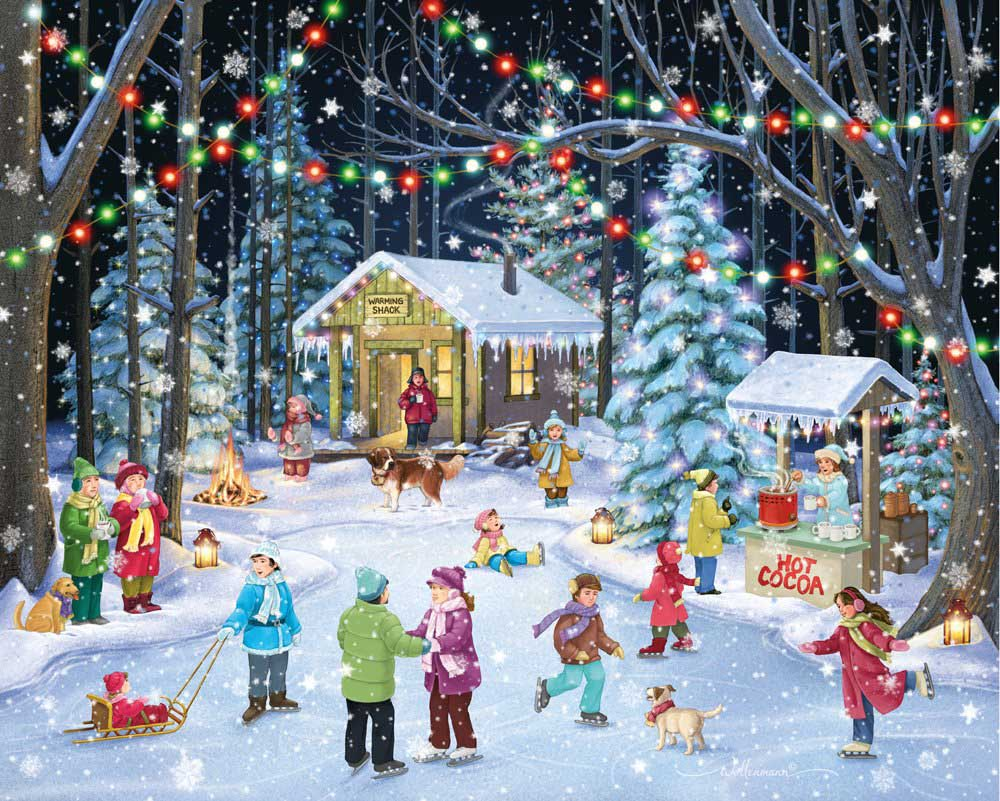 Woodland Skaters Winter Jigsaw Puzzle