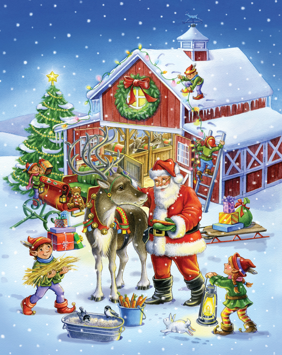 Ready Reindeer Winter Jigsaw Puzzle
