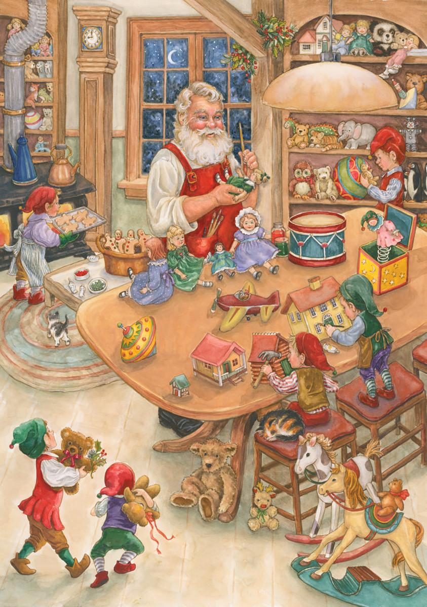 Santa's Toy Shop Santa Jigsaw Puzzle