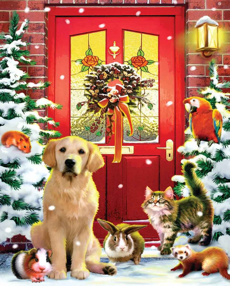 Christmas Welcome Dogs Jigsaw Puzzle