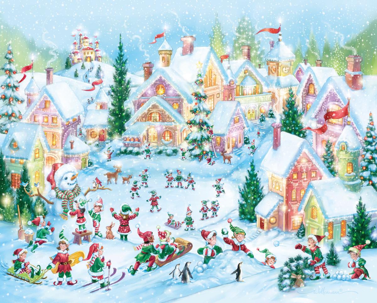 Elf Village Winter Jigsaw Puzzle