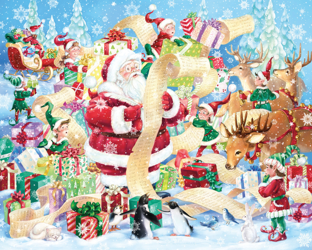 Santa's List Winter Jigsaw Puzzle