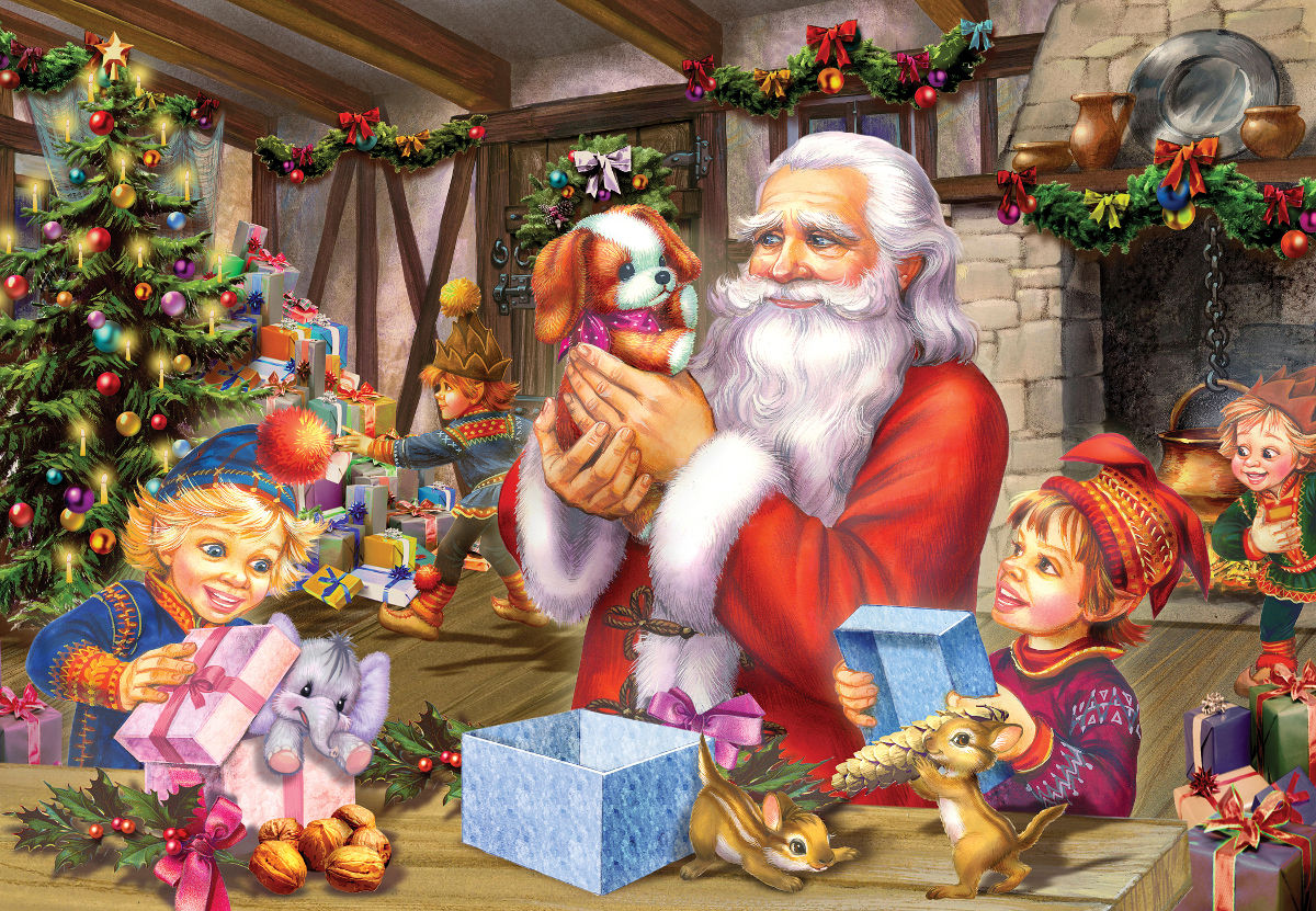 Santa & Friends Santa Jigsaw Puzzle