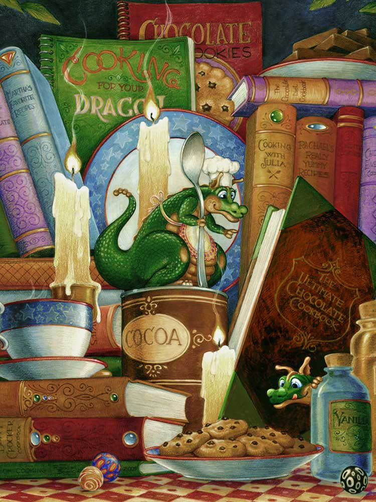 Cooking by Candlelight Dragons Jigsaw Puzzle