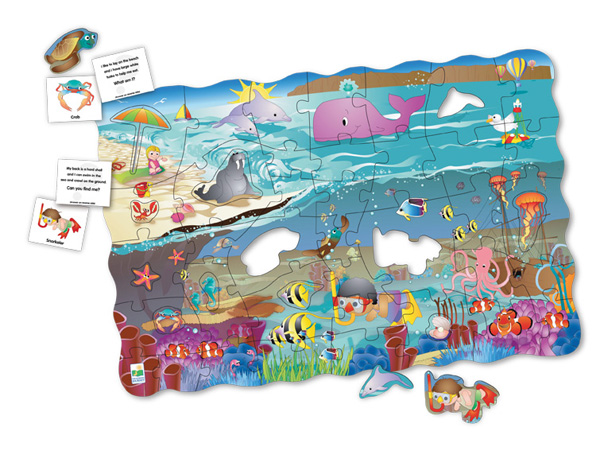Puzzle Doubles Search & Learn Sea Marine Life Jigsaw Puzzle