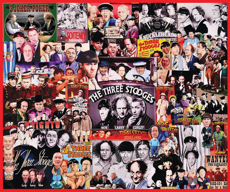 The Three Stooges Collage Jigsaw Puzzle