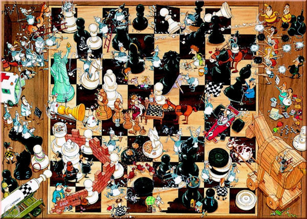Black or White People Jigsaw Puzzle