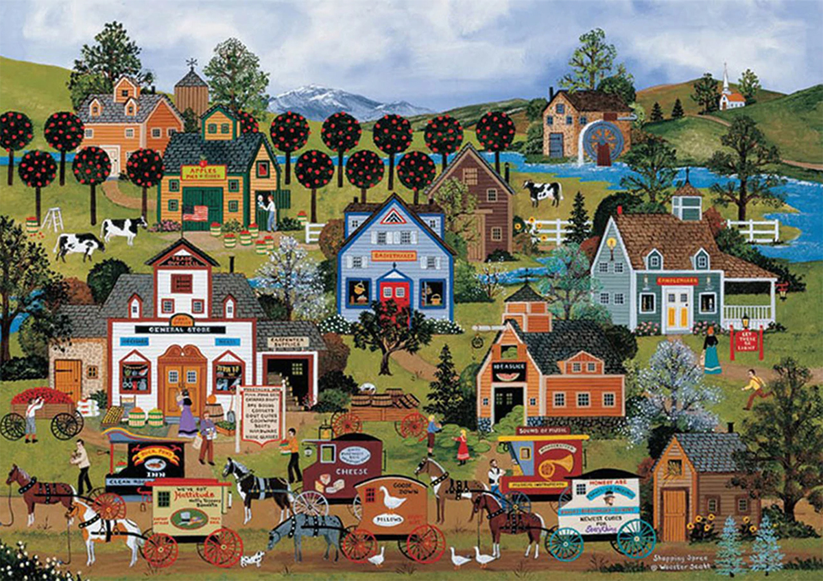 Shopping Spree Countryside Jigsaw Puzzle