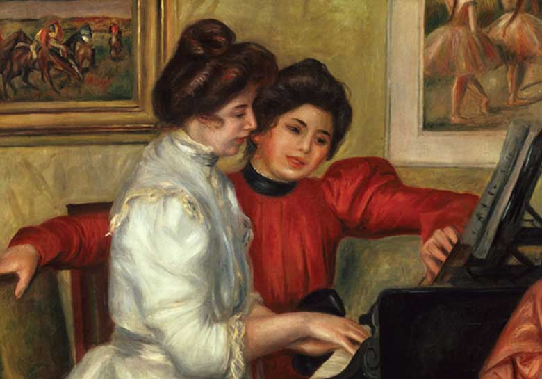 Yynonne Et Christine Lerolle Au Piano Fine Art Jigsaw Puzzle