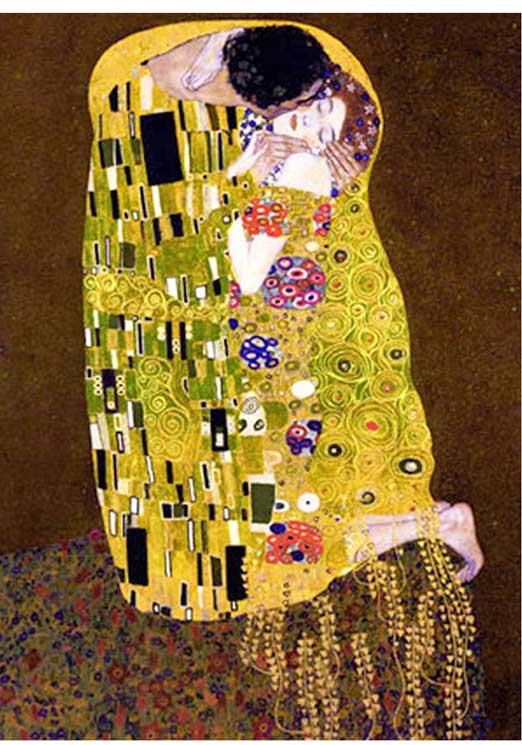 The Kiss (Gold) Fine Art Glitter / Shimmer / Foil Puzzles