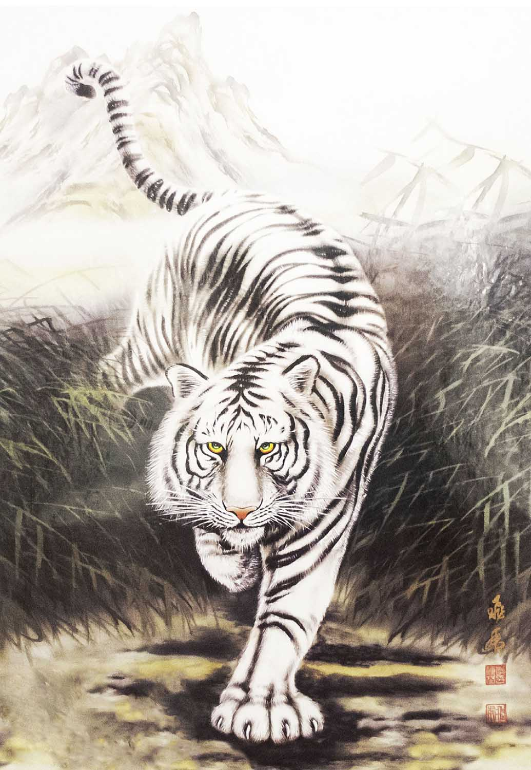White Tiger Tigers Jigsaw Puzzle