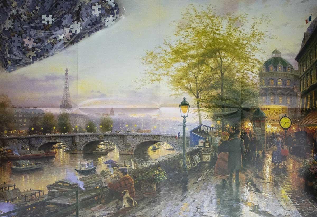 Paris City Of Love Eiffeltower Travel Jigsaw Puzzle