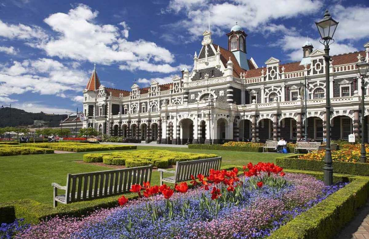 Dunedin Railway Station Trains Jigsaw Puzzle
