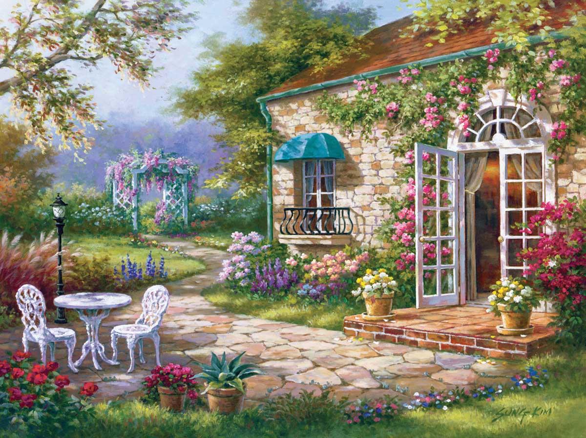 Spring Patio 2 Spring Jigsaw Puzzle