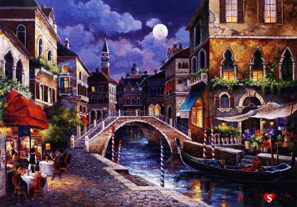 Streets Of Venice Travel Jigsaw Puzzle
