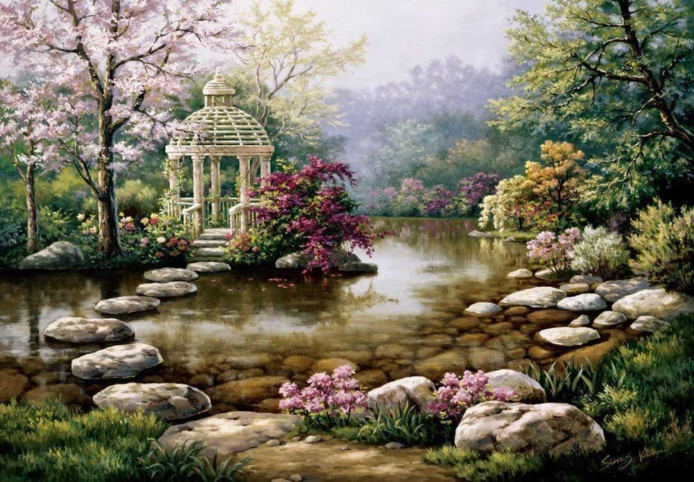 Gazebo Forest Jigsaw Puzzle