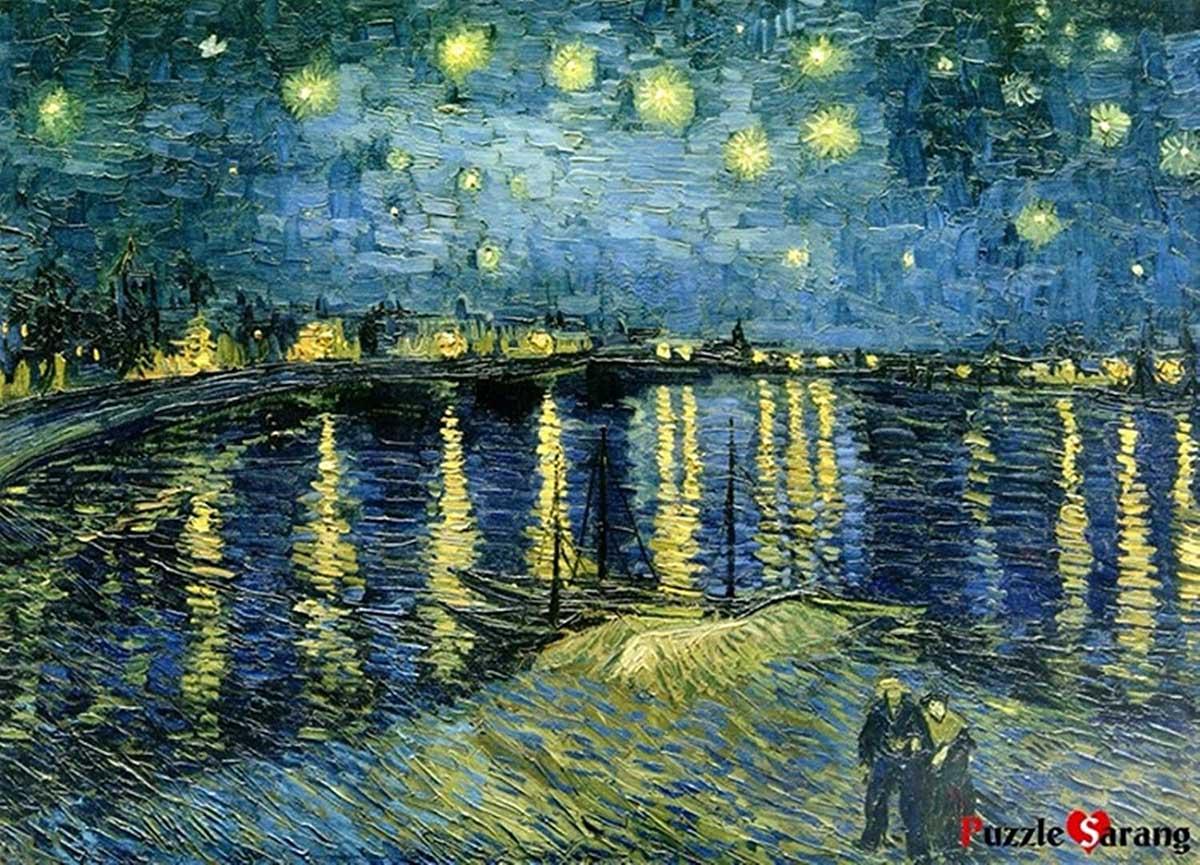 Starry Night Rhone Fine Art Jigsaw Puzzle