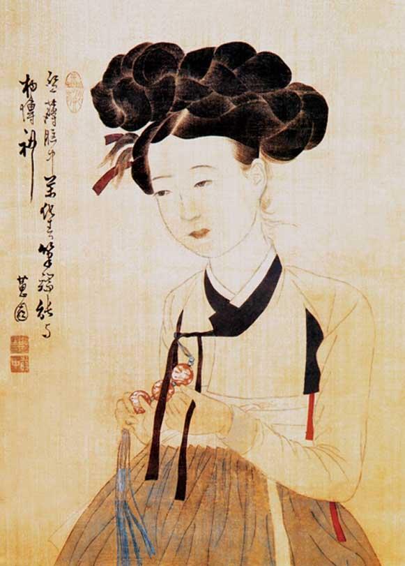Potrait Of A Beauty Asian Art Jigsaw Puzzle