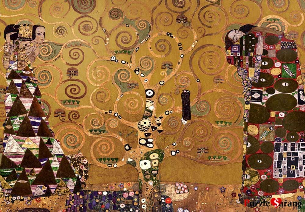 Tree Of Life (Gold) Fine Art Glitter / Shimmer / Foil Puzzles