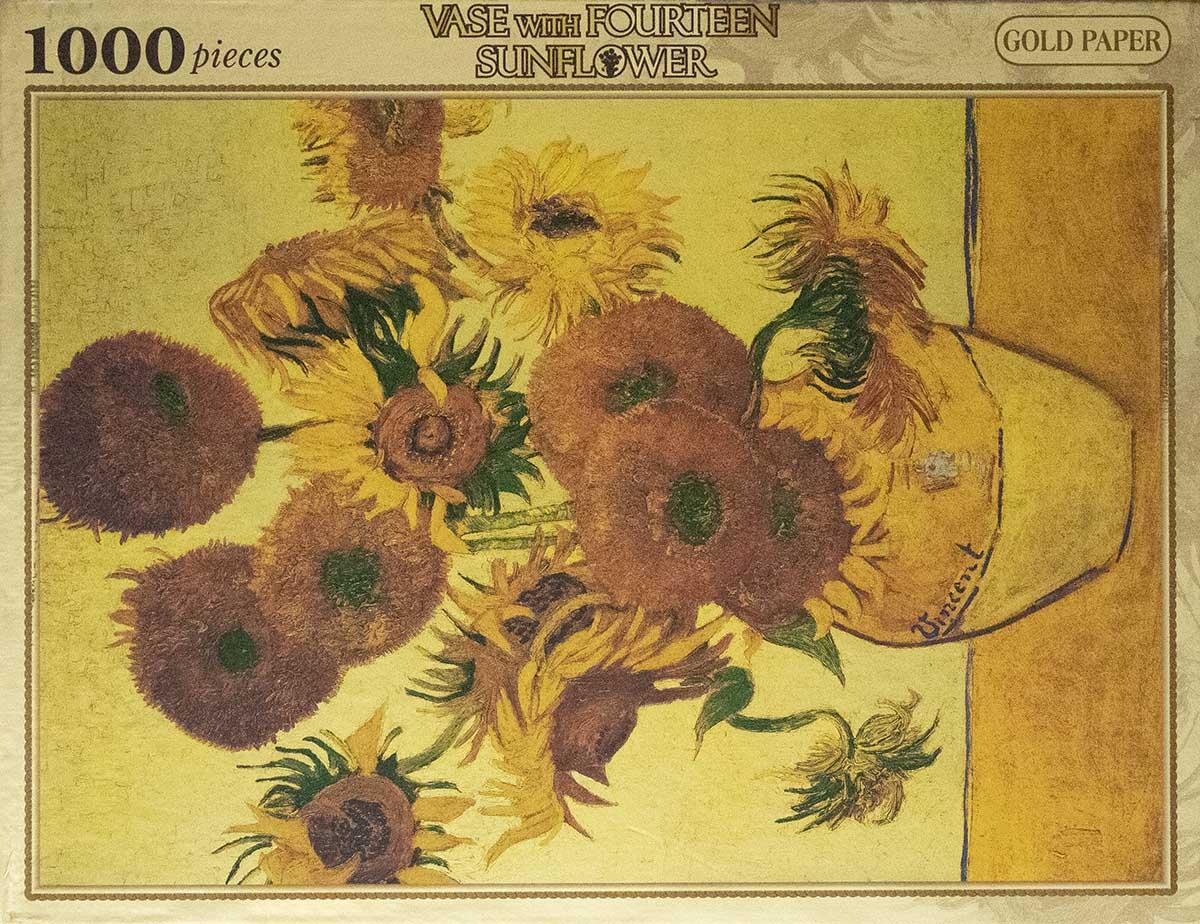 Sunflower (Gold) Flowers Glitter / Shimmer / Foil Puzzles