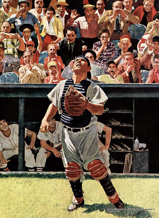 The Catcher Baseball Jigsaw Puzzle