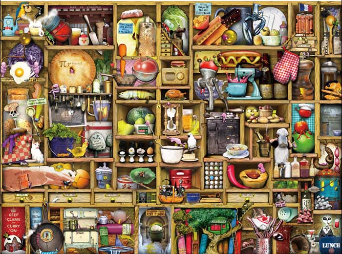 Cupboard Kitchen Everyday Objects Jigsaw Puzzle