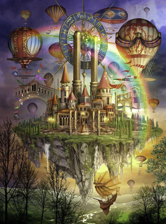 Tarot Town Ciro Machetti Fantasy Jigsaw Puzzle