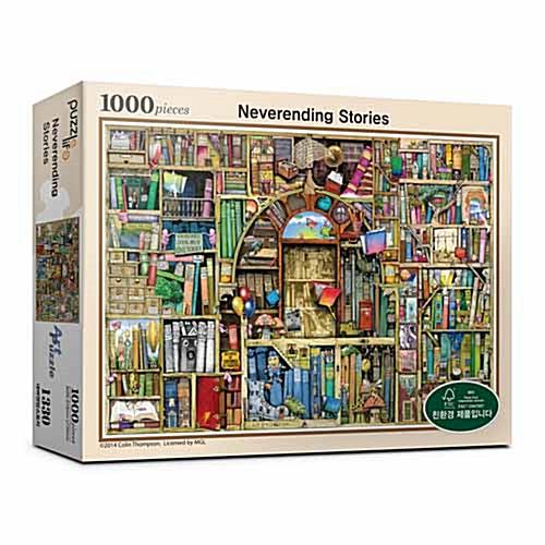 Neverending Stories Bookshelves Jigsaw Puzzle