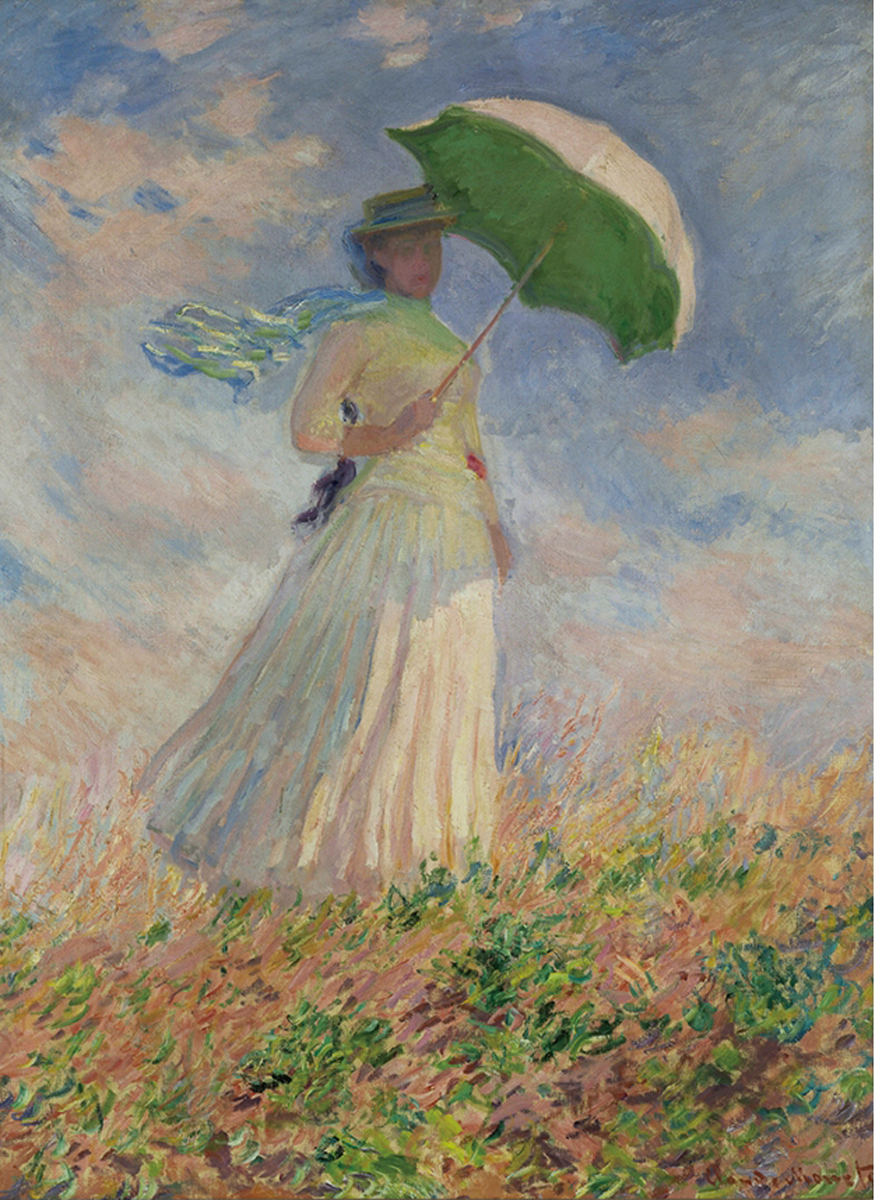 Woman With Parasol Fine Art Jigsaw Puzzle