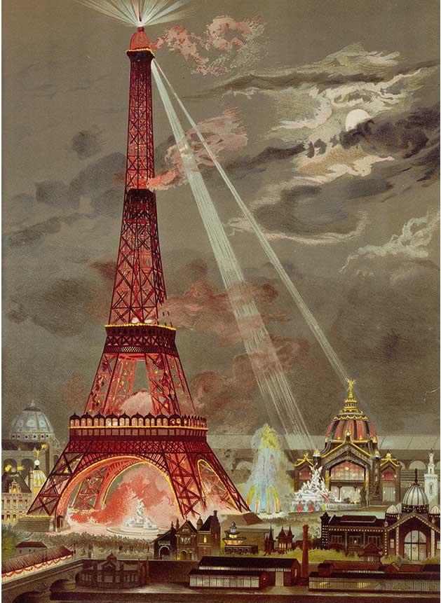 Embrasement De La Tour Eiffel Pour L'Exposition Universelle De 1889 France Jigsaw Puzzle